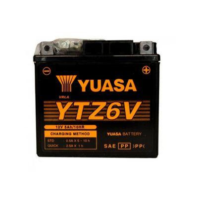 Bateria Yuasa YTZ-6V Fan 2009 / 150 Mix / YBR Factor / NXR Bros